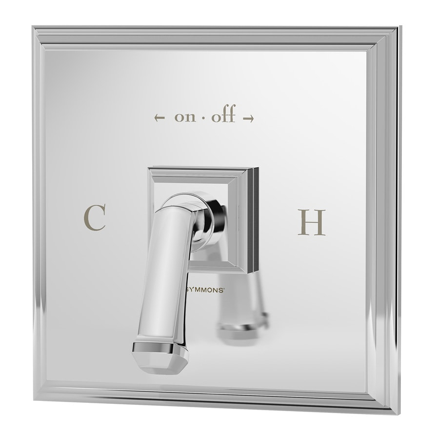 Symmons Oxford Chrome 1-Handle Shower Faucet with Single Function Showerhead