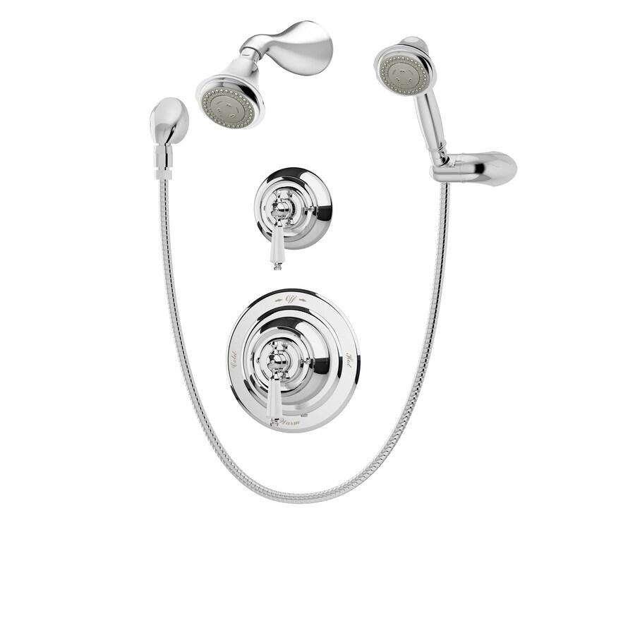 Symmons Carrington Chrome 1-Handle Shower Faucet with Multi-Function Showerhead