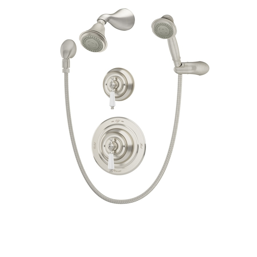 Symmons Carrington Satin Nickel 1-Handle Shower Faucet with Multi-Function Showerhead