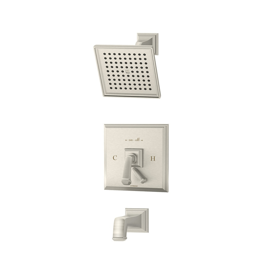Symmons Oxford Satin 1-Handle Bathtub and Shower Faucet with Single Function Showerhead
