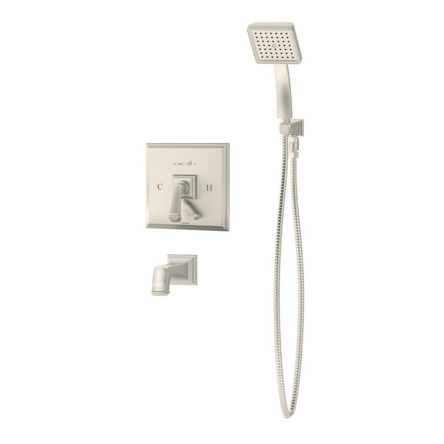 Symmons Oxford Satin 1-Handle Bathtub and Shower Faucet with Handheld Showerhead