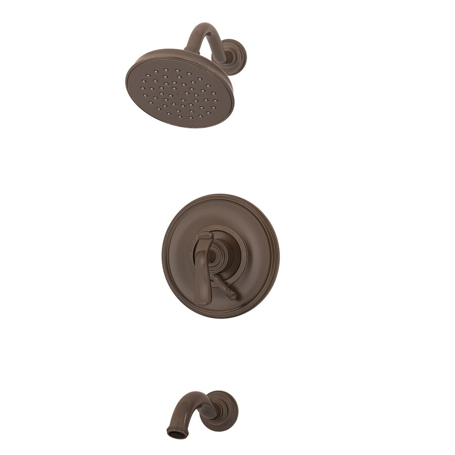 Symmons Winslet Oil-Rubbed Bronze 1-Handle Bathtub and Shower Faucet with Single Function Showerhead