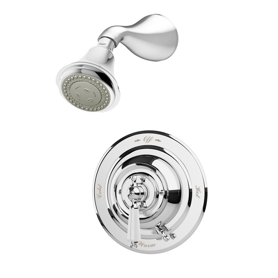 Symmons Carrington Chrome 1-Handle Shower Faucet with Single Function Showerhead