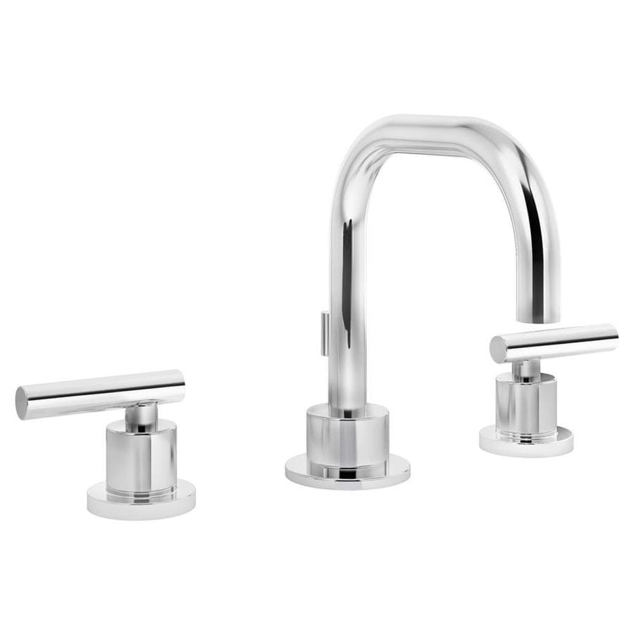 Shop Symmons Dia Chrome 2 Handle Widespread Watersense Bathroom Faucet Drain Included At