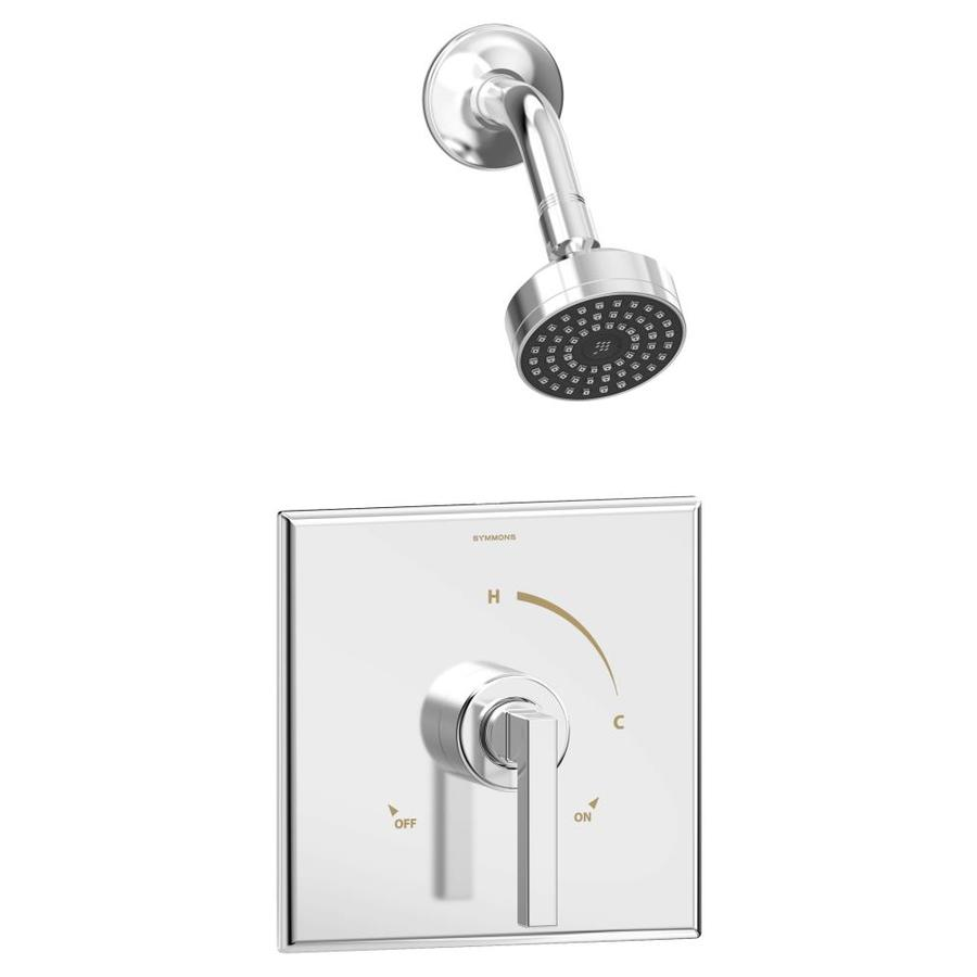 Symmons Duro Chrome 1-Handle Bathtub and Shower Faucet with Single ...