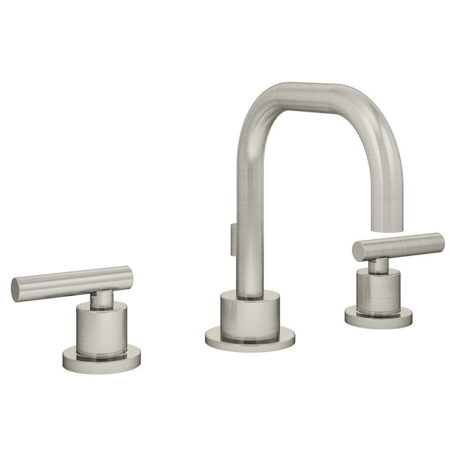Shop Symmons Dia Satin Nickel 2 Handle Widespread Watersense Bathroom Faucet Drain Included At