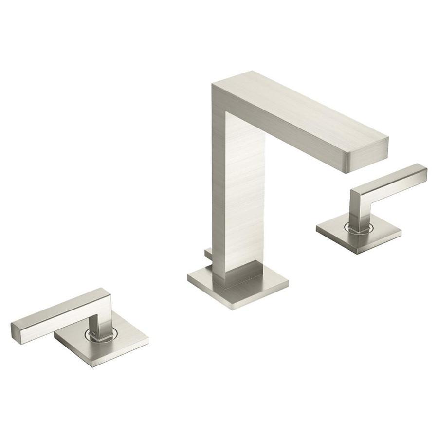 Symmons Duro Satin Nickel 2-Handle Widespread Bathroom Faucet (Drain Included)