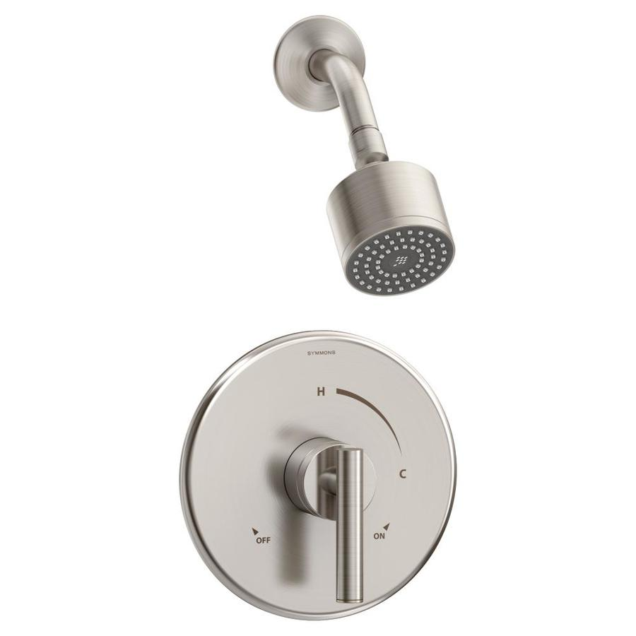 Symmons Dia Satin Nickel 1-Handle Bathtub and Shower Faucet with Single Function Showerhead