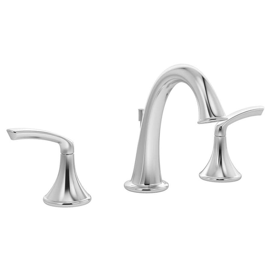 Shop Symmons Elm Chrome 2 Handle Widespread Watersense Bathroom Faucet Drain Included At