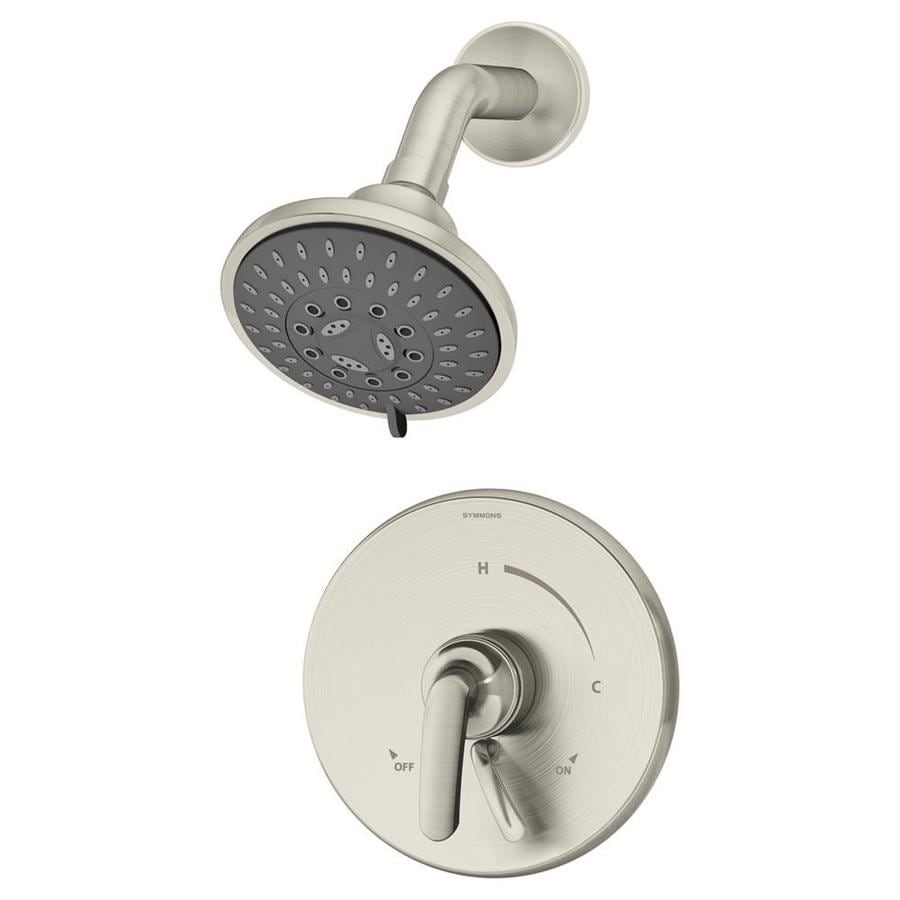 Symmons Elm Satin Nickel 1-Handle Shower Faucet with Multi-Function Showerhead