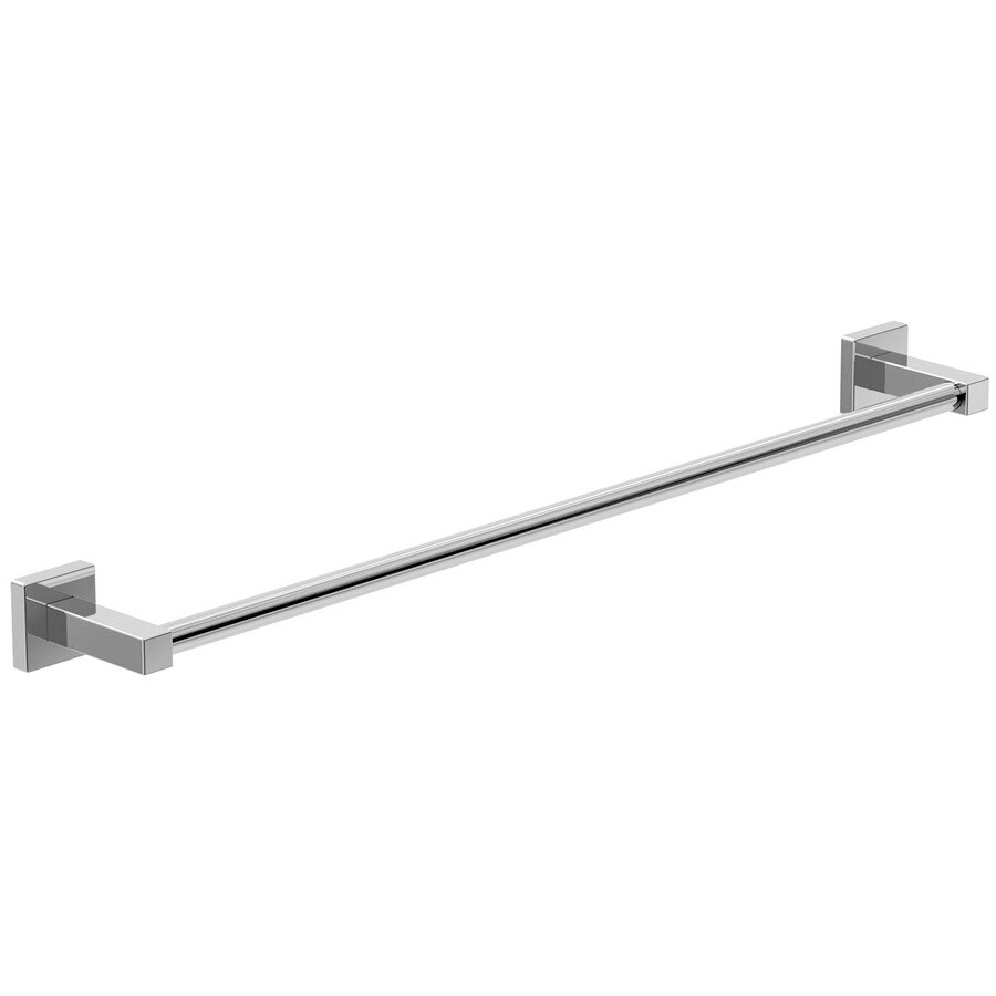 Symmons Duro Chrome Single Towel Bar (Common: 24-in; Actual: 24-in)