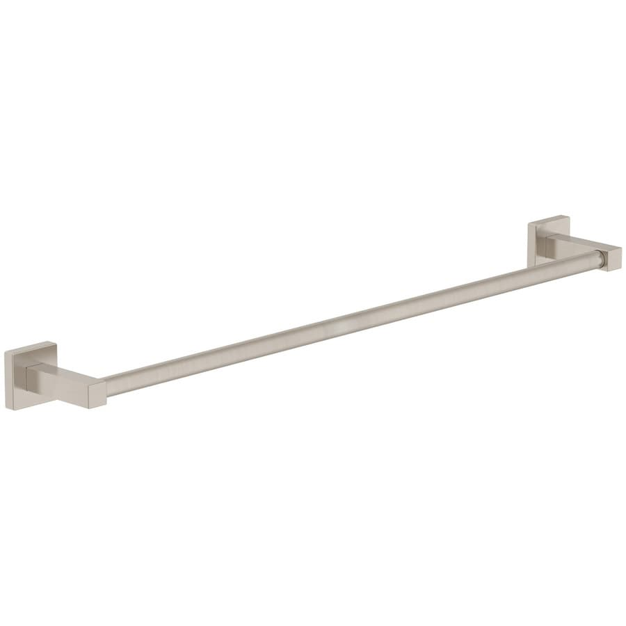Symmons Duro Satin Nickel Single Towel Bar (Common: 24-in; Actual: 24-in)