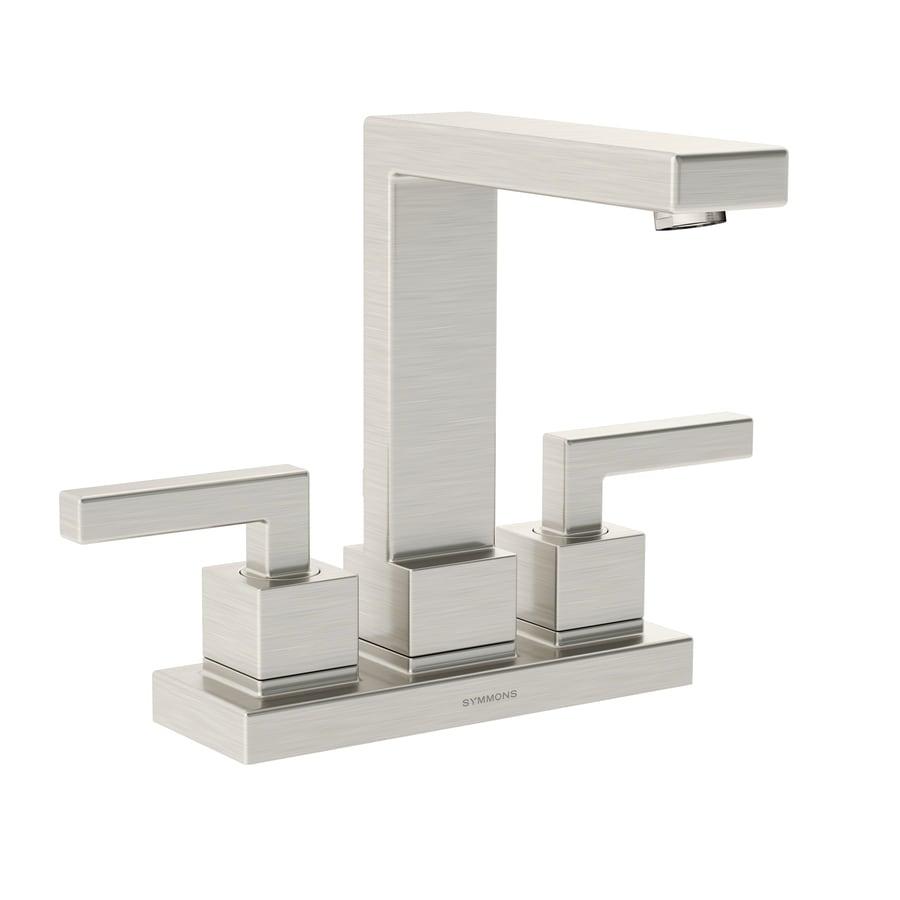 Symmons Duro Satin Nickel 2-Handle 4-in Centerset Bathroom Faucet
