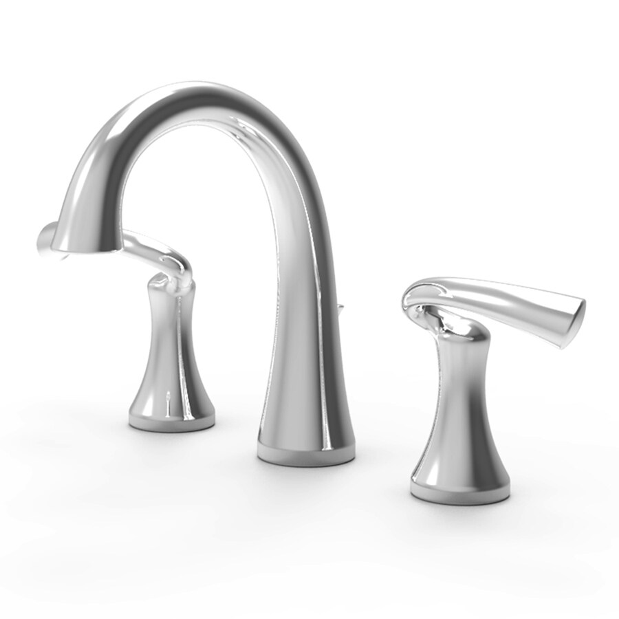 Symmons Brenna Chrome 2-Handle Widespread WaterSense Bathroom Faucet (Drain Included)