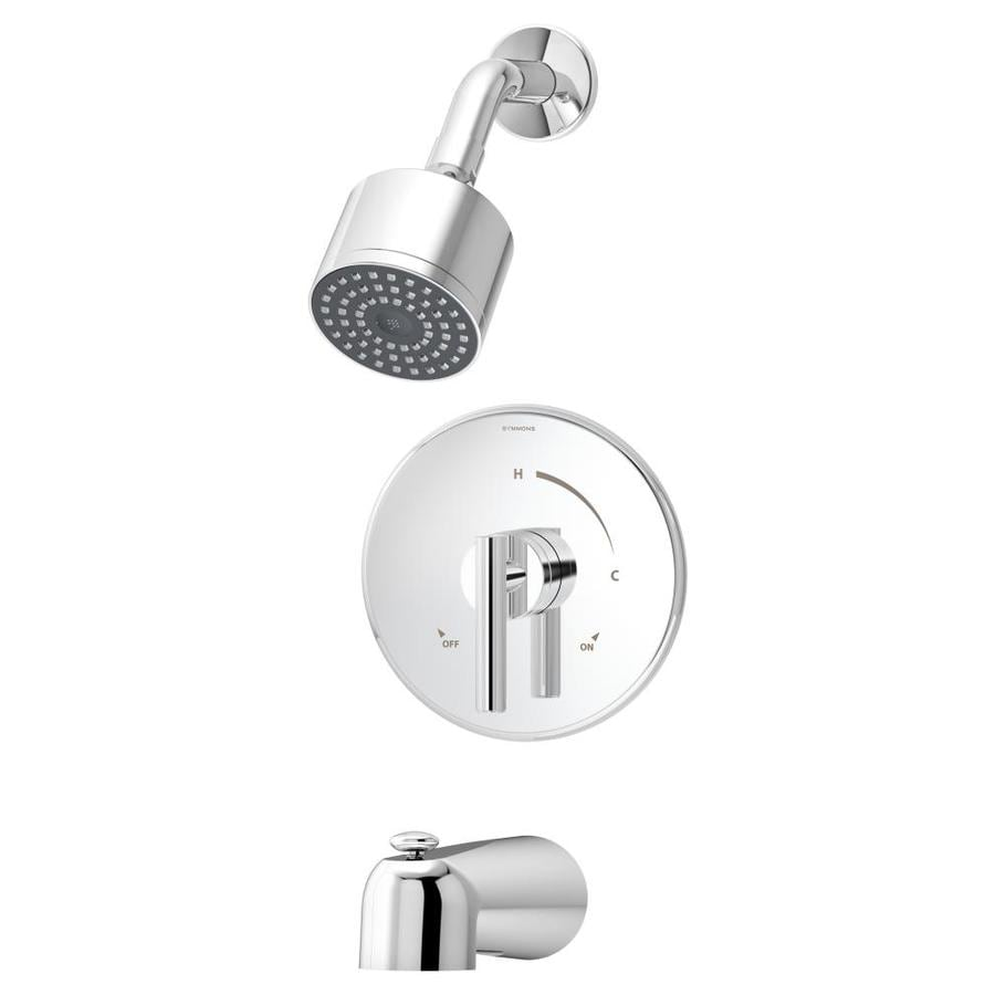Symmons Dia Chrome 1-Handle Bathtub and Shower Faucet Trim Kit with Single Function Showerhead