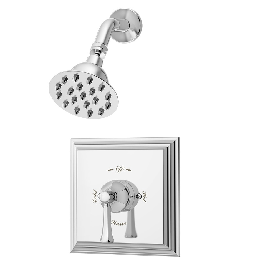 Symmons Canterbury Polished Chrome 1-Handle Shower Faucet with Single Function Showerhead