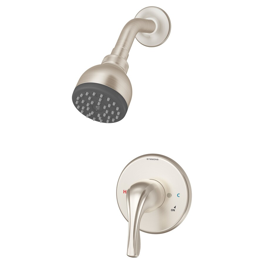 Symmons Origins Satin Nickel 1-Handle Shower Faucet with Single Function Showerhead