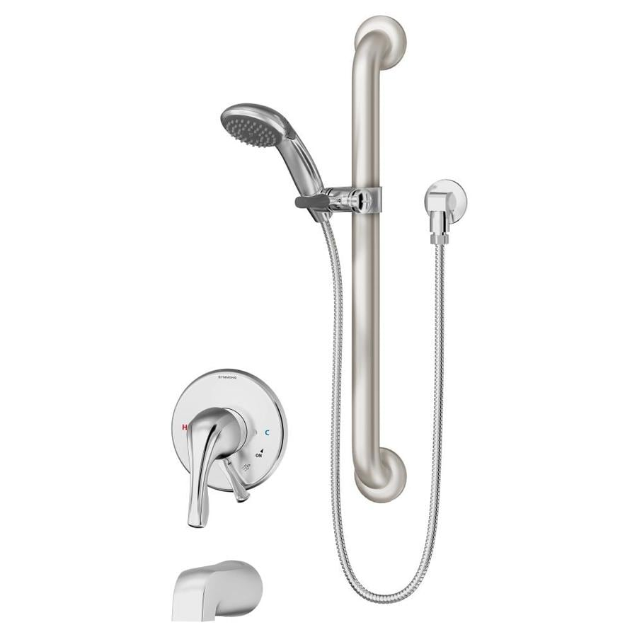 Symmons Origins Chrome 1-Handle Bathtub and Shower Faucet with Single Function Showerhead
