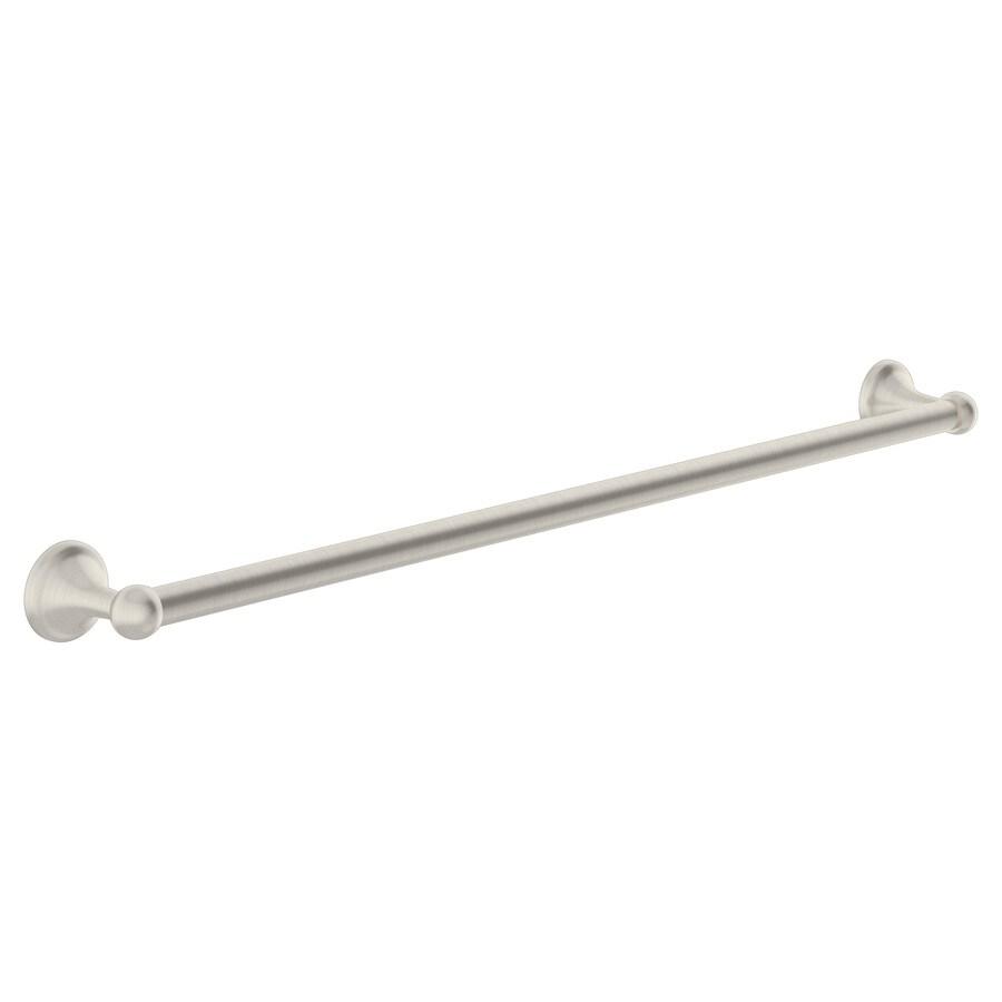 Symmons Unity Satin Nickel Single Towel Bar (Common: 24-in; Actual: 24.25-in)