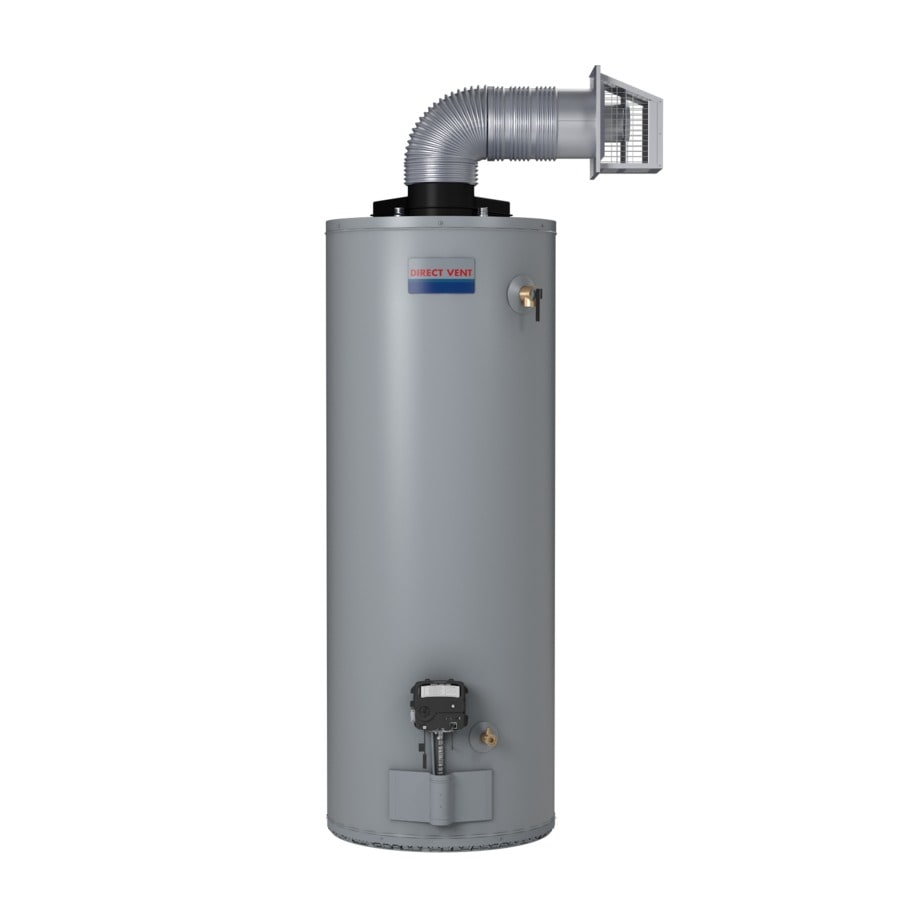 Shop direct vent 50 gallon 6 year residential tall natural Natural gas water heater