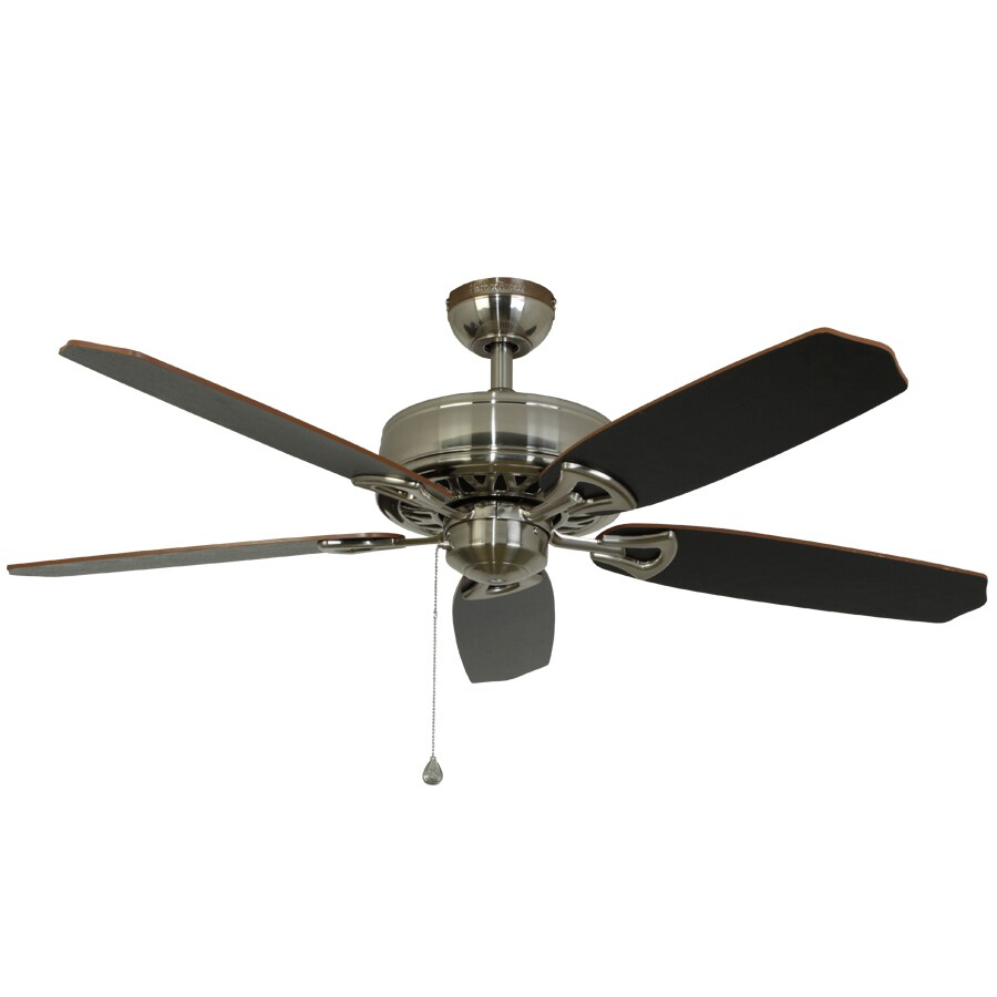 Harbor Breeze Armory 52-in Brushed Nickel Downrod or Flush Mount Indoor Ceiling Fan ENERGY STAR