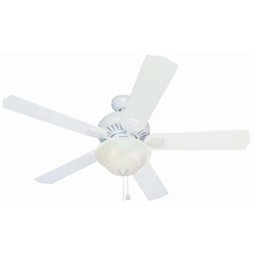 Harbor Breeze Crosswinds 52-in White Downrod or Close Mount Indoor Ceiling Fan with Light Kit and Remote
