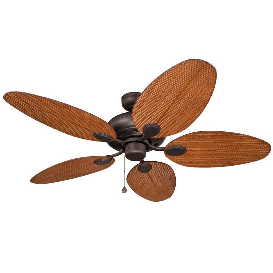 Harbor Breeze Tilghman 52-in Aged Bronze Downrod or Flush Mount Indoor/Outdoor Ceiling Fan ENERGY STAR