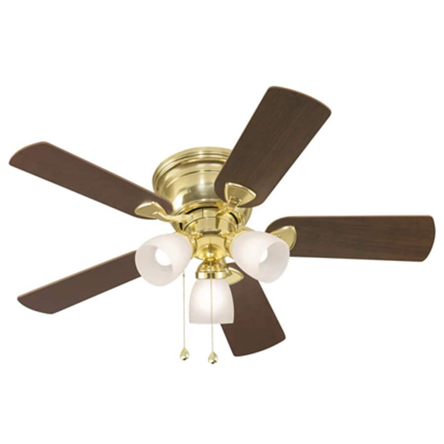 Ceiling fan and light no longer works : Harbor breeze centreville in polished brass flush