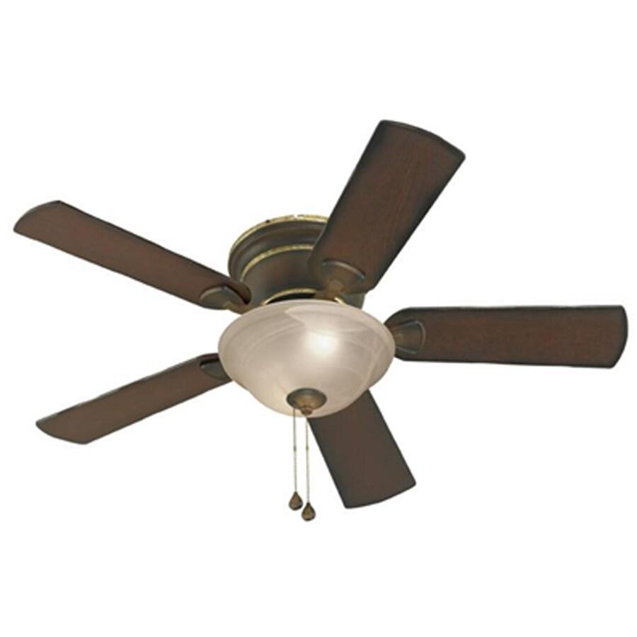Harbor Breeze Keyport 44-in Walnut Flush Mount Indoor Ceiling Fan with Light Kit