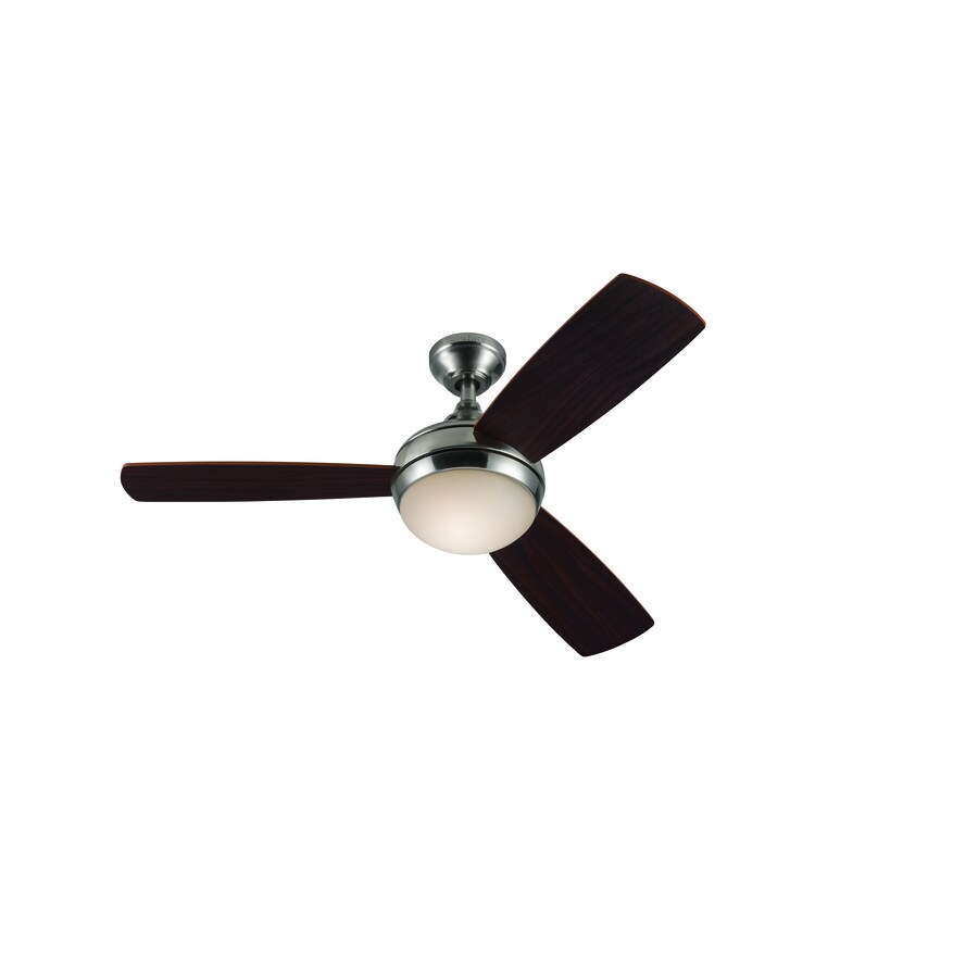 Harbor Breeze Ceiling Fan With Light And Remote : Harbor breeze in brushed nickel downrod or close