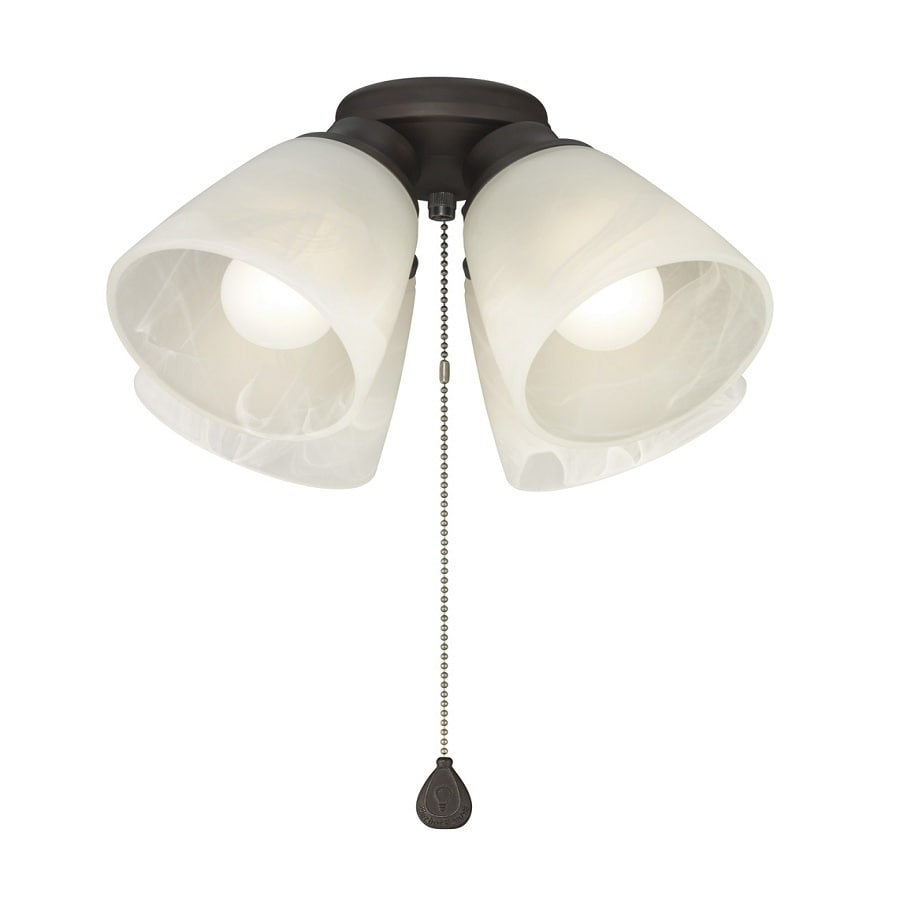 Harbor Breeze 4-Light Antique Bronze Incandescent Ceiling Fan Light Kit with Alabaster Shade