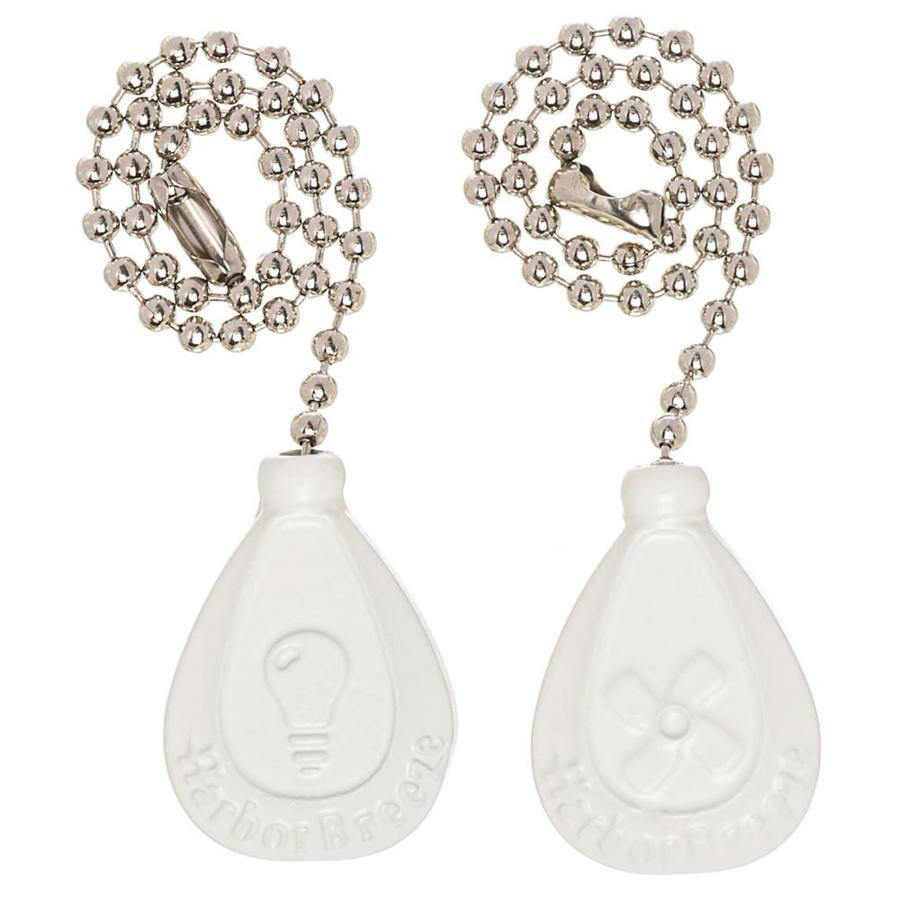Harbor Breeze 2-Pack 7-in White Zinc Pull Chain