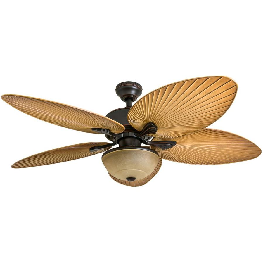 Harbor Breeze Chalmonte 52-in Oil Rubbed Bronze Downrod or Close Mount Indoor/Outdoor Ceiling Fan with Light Kit and Remote