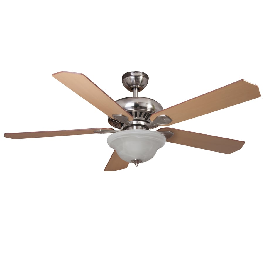 Shop Harbor Breeze 52 In Brushed Nickel Downrod Or Close Mount Indoor Ceiling
