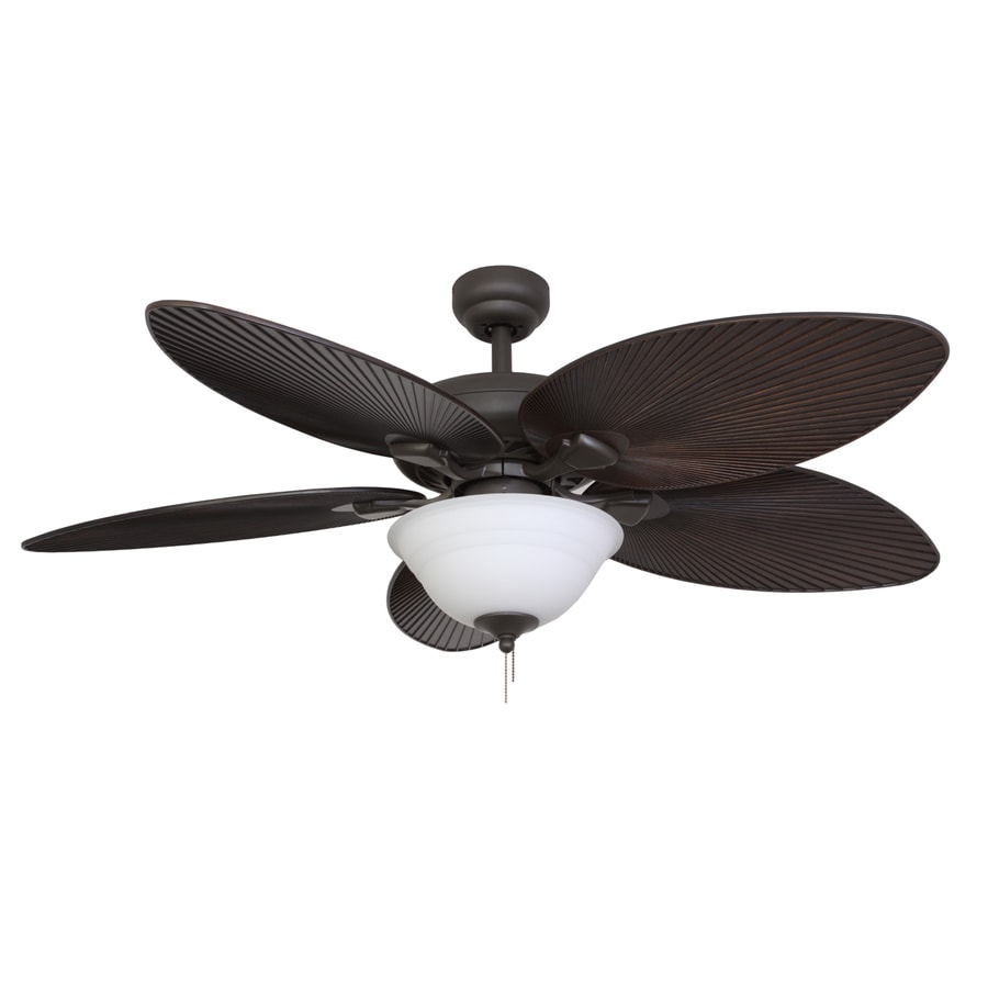 Palm Coast Duval 52-in Bronze Downrod or Close Mount Indoor Ceiling Fan with Light Kit