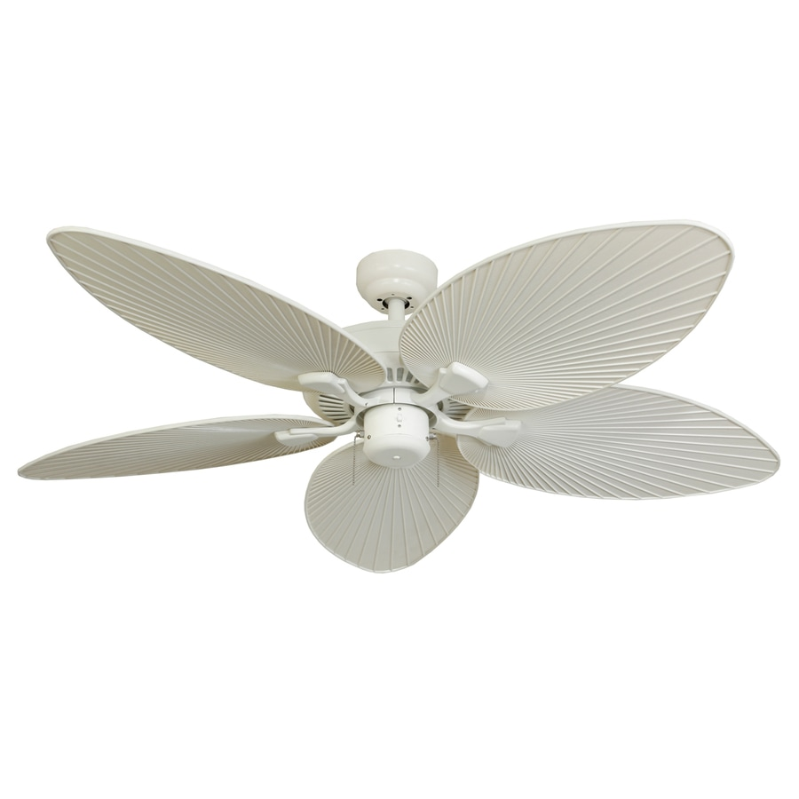 Palm Coast Tavernier 52-in White Downrod or Close Mount Indoor/Outdoor Ceiling Fan