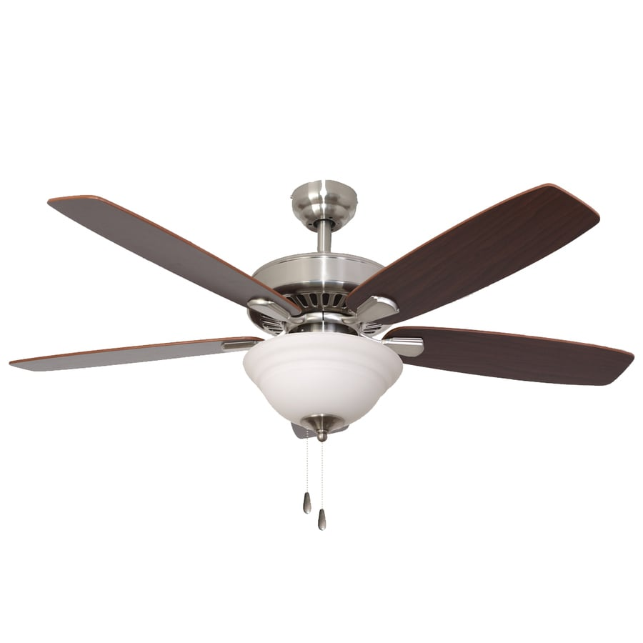 Palm Coast Oakleigh 52-in Brushed Nickel Downrod or Close Mount Indoor Ceiling Fan with Light Kit and Remote