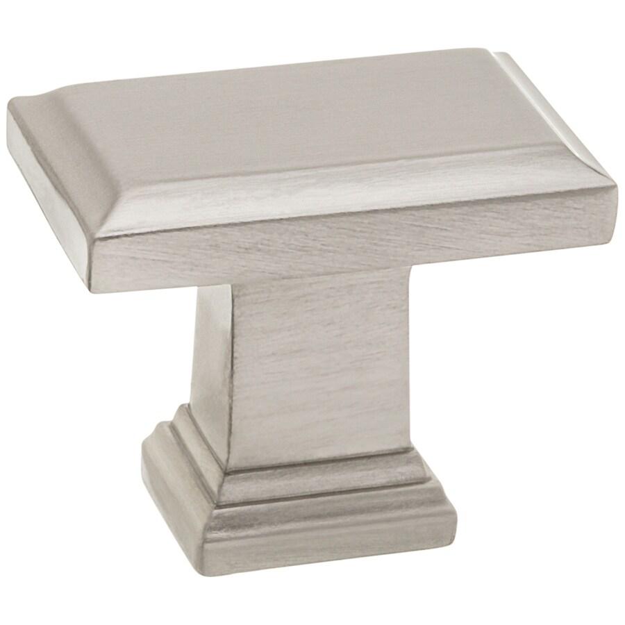 Style Selections Nickel Rectangular Cabinet Knob