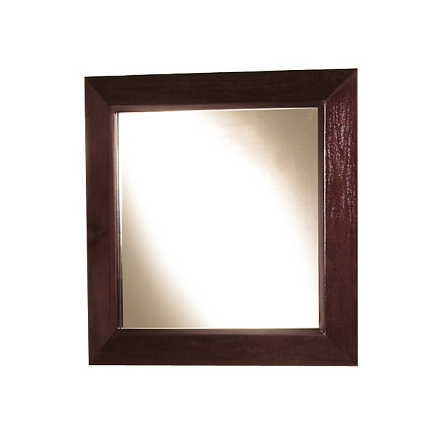 Magick Woods 30-in H x 30-in W Sonata Mahogany Square Bathroom Mirror