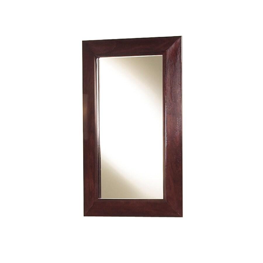 Magick Woods 30-in H x 18-in W Sonata Mahogany Rectangular Bathroom Mirror