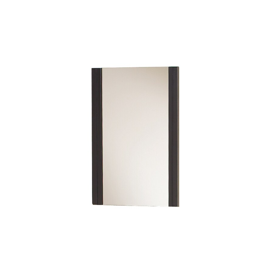 Magick Woods 30-in H x 18-in W Norwich Dark Chocolate Rectangular Bathroom Mirror