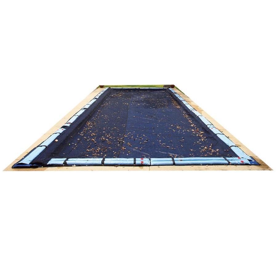 Blue Wave 28-ft x 16-ft Polyethylene Leaf and Debris Pool Cover
