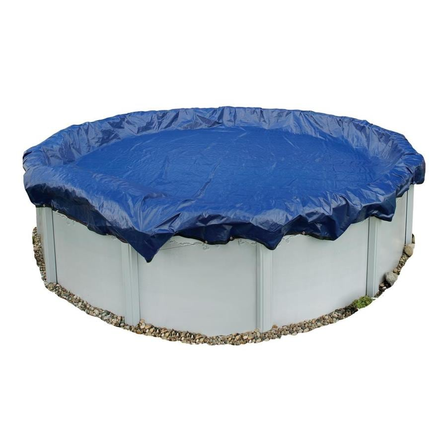 Blue Wave 28-ft x 28-ft Gold Polyethylene Winter Pool Cover
