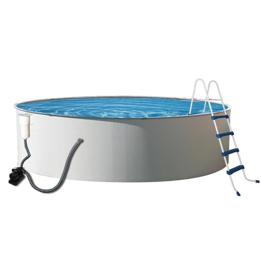 Blue Wave Presto 24-ft x 24-ft x 52-in Round Above-Ground Pool