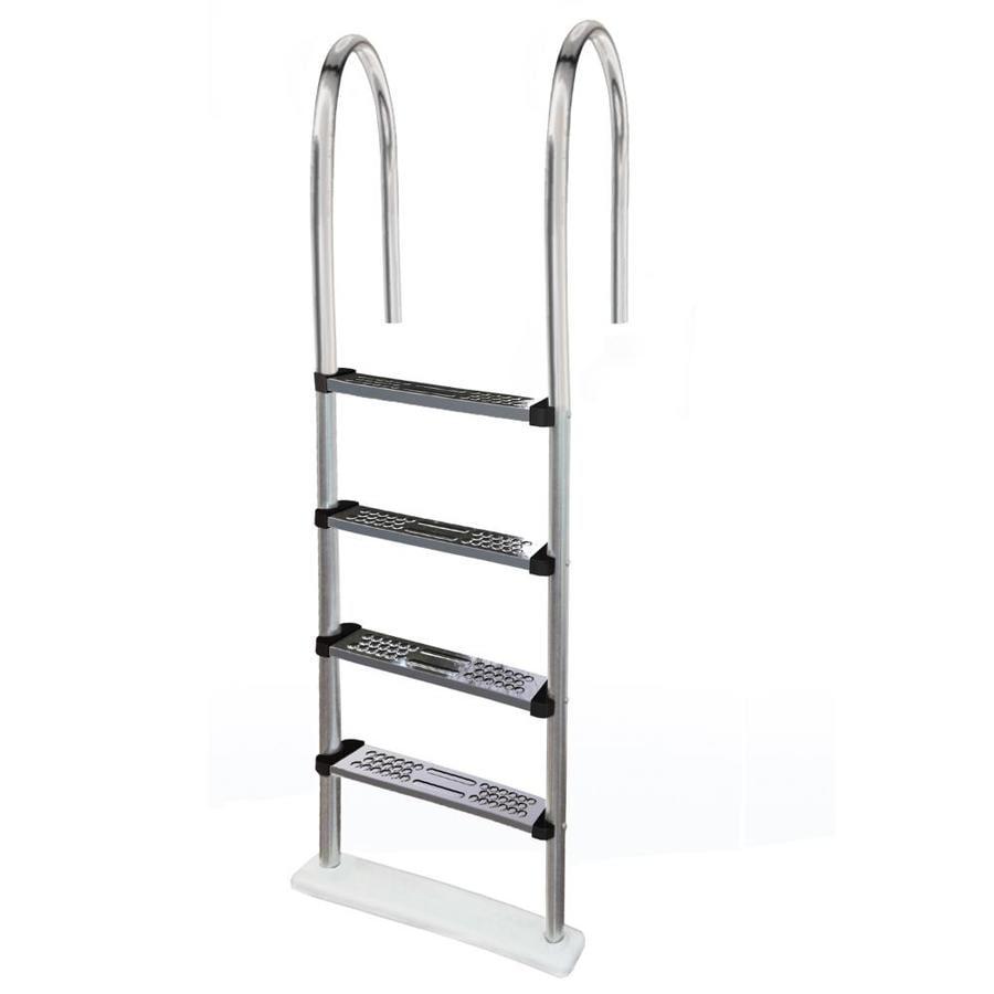 Blue Wave 56-in Steel Pool Deck Ladder Hand Rail