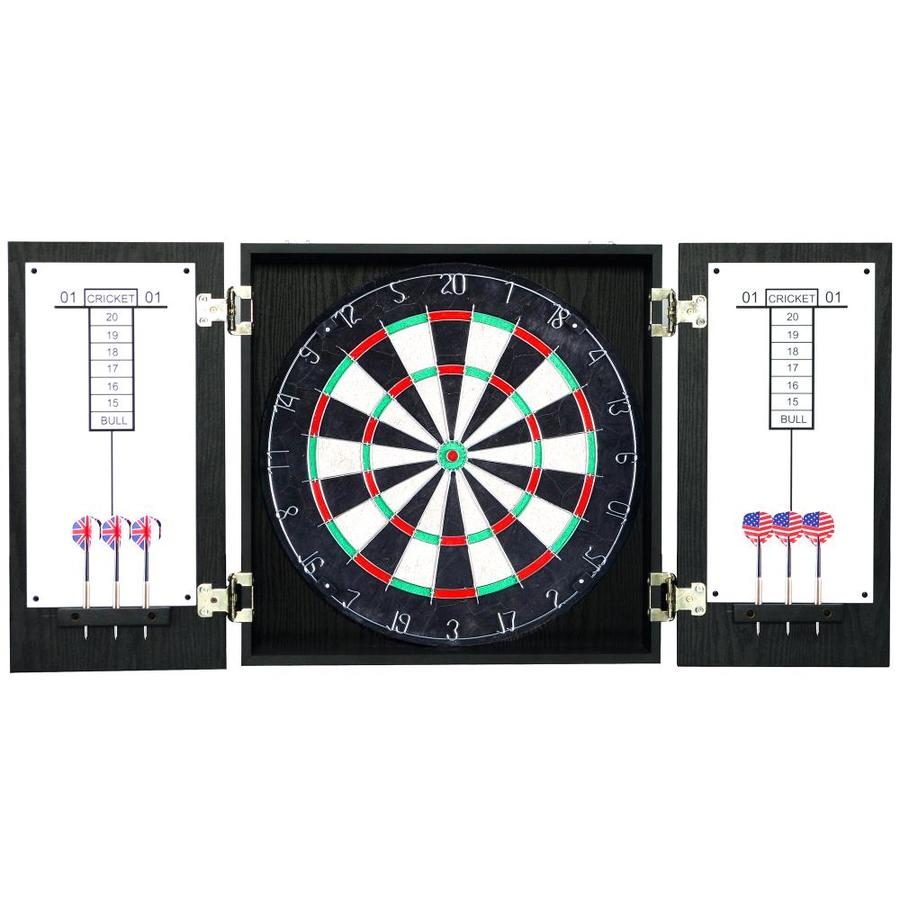 Hathaway Winchester 19.75-in Black Composite Dartboard Cabinet with Dartboard