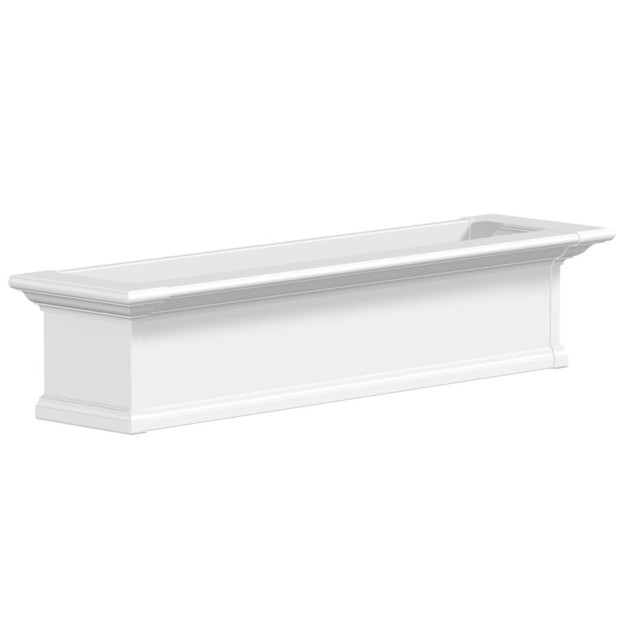 Mayne 10.0-in H x 48.0-in W x 12.0-in D White Outdoor Window Box
