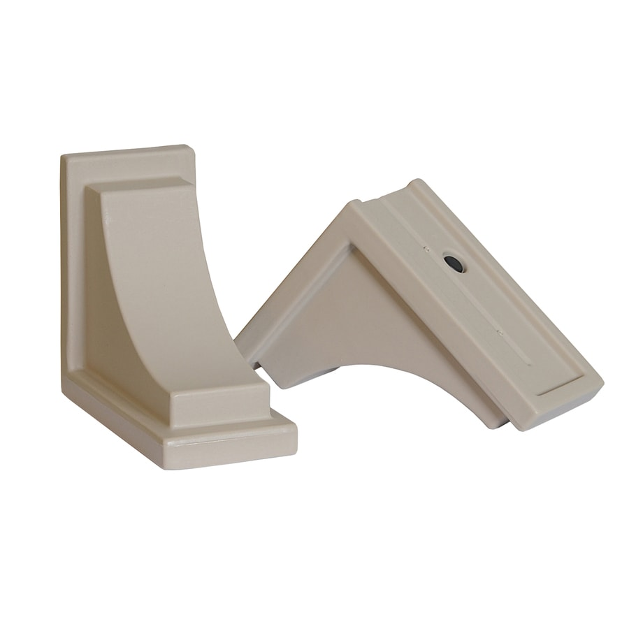 Mayne 2-Pack 8-in Resin Window Box Brackets