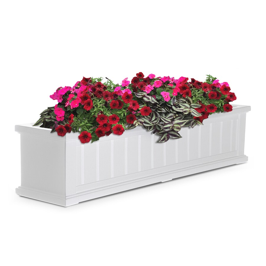 Mayne 48-in x 10.8-in White Resin Hanging Self Watering Window Box