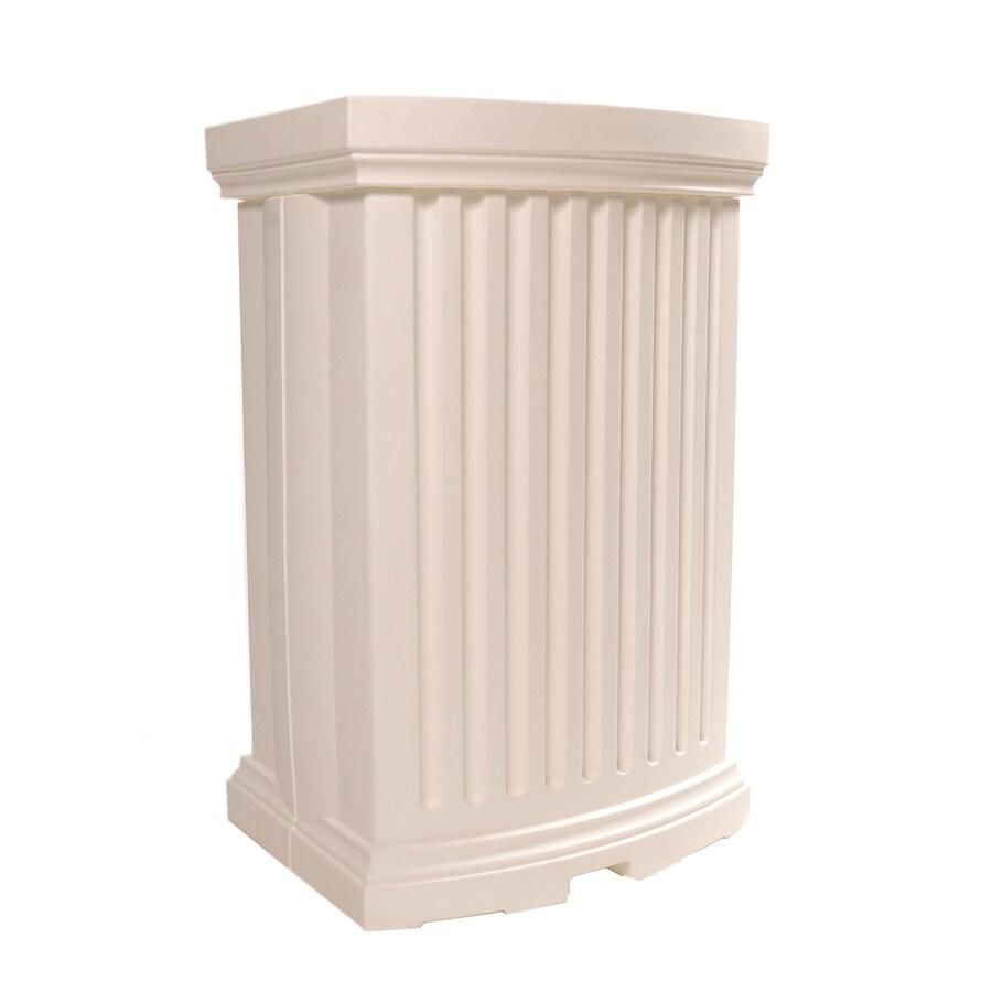 Mayne 40-Gallon White Plastic Rain Barrel